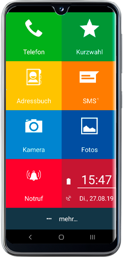 EinfachFon Seniorenhandy Samsung Galaxy A20e