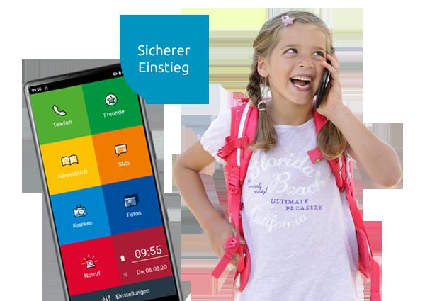 Kinderhandy EinfachFon Kids- Startbildschirm