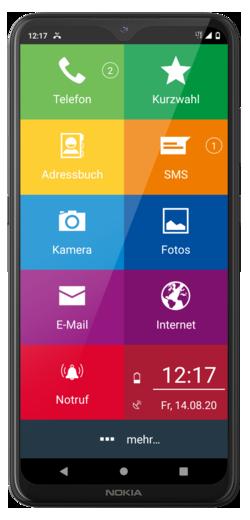 EinfachFon Seniorenhandy Nokia 5.4