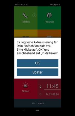 Updates für das EinfachFon Kids