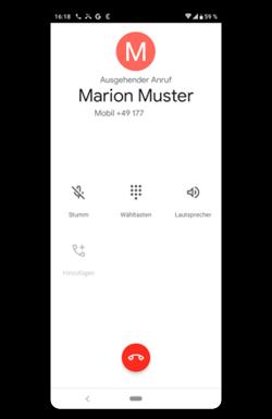 Abgehender Anruf