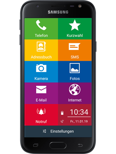 Samsung Galaxy J3 EinfachFon Seniorenhandy